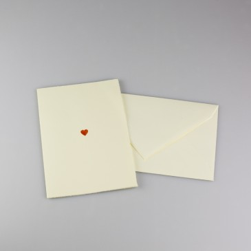 Embossed Double Card Heart